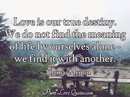 True Love Is Quotes Cool Love Is Our True Destiny We Do Not Find The Meaning Of Life By