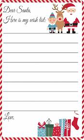 Blank Christmas List Blank Christmas Wish List Free Download