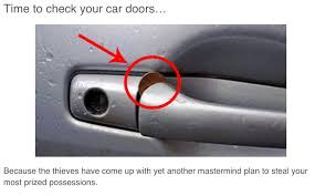 Thieves Using Penny Jammed in Car Door Handle Fiction