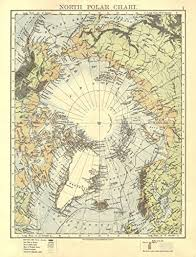 Polar Routes Charts Amazon Com North Polar Chart Explorers Routes Nansen 1895