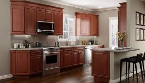 Cherry kitchen cabinets Countertop Kabinet King Quincy Cherry Kitchen Cabinets