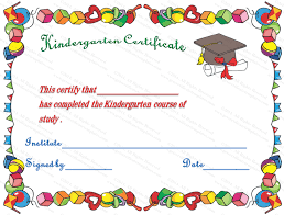 Hats Off Kindergarten Diploma Certificate Template Award