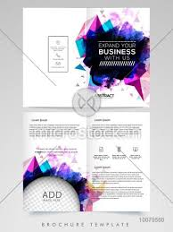 Two Page Brochure Template Abstract Two Page Brochure Template Or Flyer Design With Space To