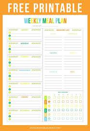 Free Printable Weekly Meal Planner Printable Crush