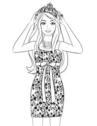 Small Picture Barbie Coloring Pages for Girls Barbie Coloring Page 89 About