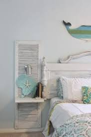 shabby chic beach bedroom awesome shutter nightstands built onto a headboard made from an old beach shabby chic furniture