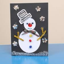 Easy Christmas Cards For Toddlers  Here Come The GirlsChristmas Card Craft For Children
