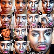how makeup transforms this woman into male celebs