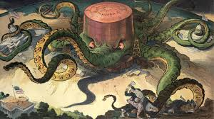 the progressive era the american yawp illustration shows a standard oil storage tank as an octopus many tentacles wrapped