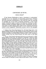 copyright as myth essay university of pittsburgh law review  what is