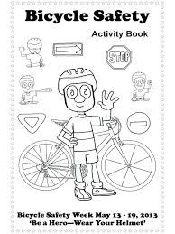 Safety Coloring Pages Educational Bicycle Safety Coloring Pages 1 ...
