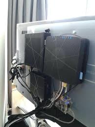 how to hide cable box behind tv put under wall mount