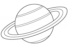 Small Picture Planet Saturn Coloring Page Space Saturn adult
