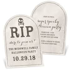 Halloween Invitations Cards Spooky Tombstone Unique Halloween Party Invitation