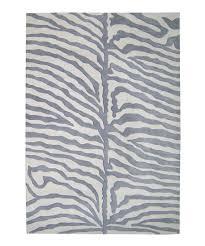 gray ivory zebra wool rug