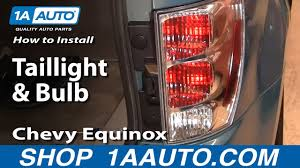 2008 Chevy Equinox Brake Light Replacement How To Replace Tail Light Housing 05 09 Chevy Equinox