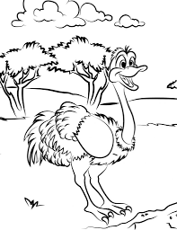 Small Picture Free Printable Ostrich Coloring Pages For Kids dierendag