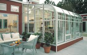 Wood Sunroom with Glass Roof