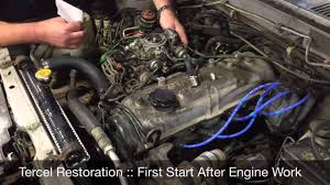 Toyota Tercel 4WD Restoration First Start - YouTube