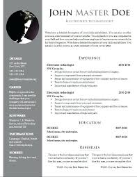 Free Creative Resume Templates Creative Resume Template Word Free