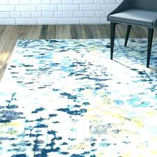 yellow teal rug red and