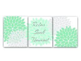 green bath decor bathroom canvas wall art relax soak unwind mint green and gray bathroom decor on seafoam green canvas wall art with green bath decor bathroom canvas wall art relax soak unwind mint