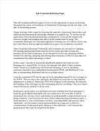 evaluation essay pdf format  simple self evaluation essay example