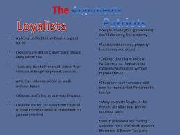 Jefferson Vs Hamilton Venn Diagram Loyalist Vs Patriots Patriots Alexander Hamilton Vs Thomas