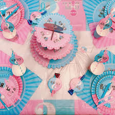 AVEBIEN <b>Boy</b> or <b>Girl Boy Girl</b> Sex Revealing Birthday Party Theme ...