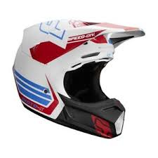 Details About Fox Racing V3 Red White And True Limited Edition Mens Off Road Motocross Helmets