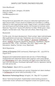Software Engineer Resume Examples Colin Macdonald 2910 20th St South