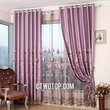 Purple Curtains For Living Room Light Purple Living Room Curtains With Gauze And Cloth Fabric