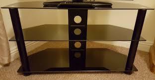 argos home matrix glass corner tv unit black chrome