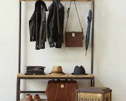 Coat Rack With Mirror Furniture Tall Narrow Wood Storage Bench Cabinet With Coat Rack 86