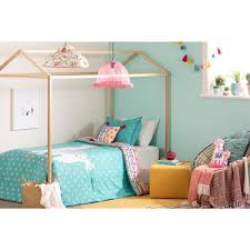 dreamit 2 piece festive llama turquoise and pink twin comforter and pillowcase set