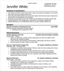 Free Nursing Resume Template Word