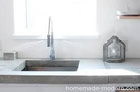 this concrete kitchen countertop was built for less than 120 the entire kitchen is a