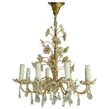 beautiful crystal flowers chandelier palwa germany for