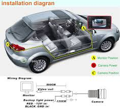 universal 4 3 lcd monitor and wired rear camera kit wiring diagram