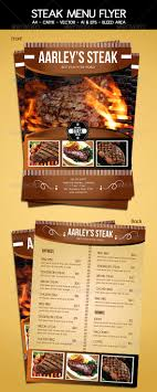 Menu Flyer Template Steak Menu Flyer Template By Arifpoernomo GraphicRiver 10