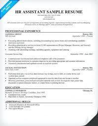 Hr Assistant Duties Sample Resume Human Resources Hr Assistant Hr Assistant Resumesample