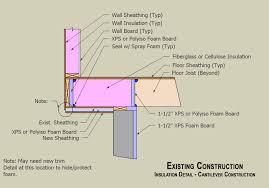 retrofit insulation detail bay window floor