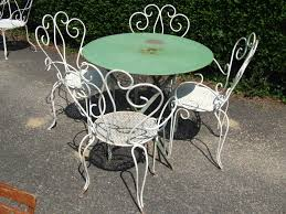 black wrought iron outdoor furniture. Charming Vintage Wrought Iron Patio Furniture Ebay F92X On Wow Home Designing Inspiration With Black Outdoor A