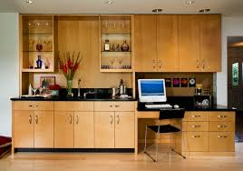 office counter tops. built in desk cabinets home office contemporary with wood flooring black countertops built-in counter tops