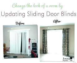 half door blinds rod pocket curtains glass curtain sliding patio panel track shades photo 5 of