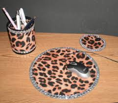 office leopard print. animal print u0026 bling computer desk set by lauriebcreations 2200 office leopard a