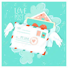 Cute Love Letters Cute Love Letters With Hearts Marks And Stamps Romantic Valentines