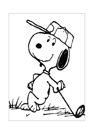 Pin Van Jolanda Halkes Op Golf Snoopy Coloring Pages Golf Drawing