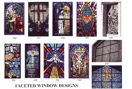 faceted stained glass pieces have a true mosaic appearance instead of uniform lead cames the glass is held together with an allowing for various