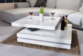 modern coffee table white high gloss